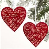 2-Sided Close To Her Heart Personalized Wood Ornament - 21668-2