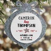 Farmhouse Baby Christmas Galvanized Ornament - 21674