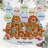 Gingerbread Family Personalized Ornament- 8 Name - 21686-8