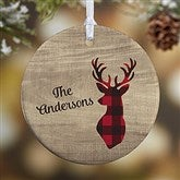 1-Sided Cozy Cabin Personalized Ornament- Small - 21687-1S