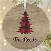 1-Sided Cozy Cabin Personalized Ornament- Large - 21687-1L