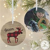 2-Sided Cozy Cabin Personalized Photo Ornament- Large - 21687-2L
