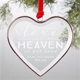 Heaven In Our Home Personalized Bronze Edge Ornament - 21690
