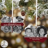 My Favorite Things 5 Photo Personalized Ornament - 21695