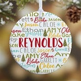 1-Sided Whimsical Winter Photo Family Personalized Ornament- Small - 21702-1S