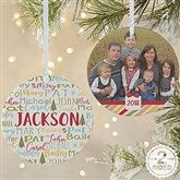 2-Sided Whimsical Winter Photo Family Personalized Ornament- Large - 21702-2L