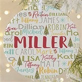 1-Sided Whimsical Winter Photo Family Personalized Ornament- Large - 21702-1L