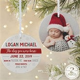 2-Sided The Day You Were Born Personalized Ornament- Large - 21704-2L