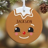 1-Sided Gingerbread Character Personalized Ornament- Small - 21706-1S