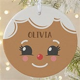 1-Sided Gingerbread Character Personalized Ornament- Large - 21706-1L