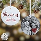 2 Sided This Is Us Personalized Ornament- Small - 21707-2S