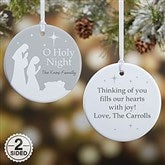 2-Sided O Holy Night Personalized Ornament- Small - 21709-2S