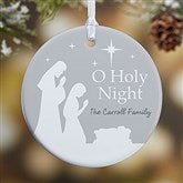 1-Sided O Holy Night Personalized Ornament- Small - 21709-1S