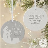 2-Sided O Holy Night Personalized Ornament- Large - 21709-2L