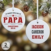 2-Sided My Favorite People Call Me... Personalized Ornament- Small - 21711-2S