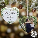 2-Sided Laurels Of Love Personalized Wedding Ornament- Small - 21716-2S