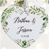 1-Sided Laurels Of Love Personalized Wedding Ornament- Large - 21716-1L