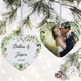 2-Sided Laurels Of Love Personalized Wedding Ornament- Large - 21716-2L