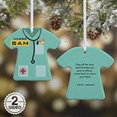 2-Sided Nurse's Care Personalized Ornament - 21717-2