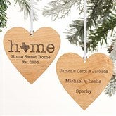 Home State Personalized 2 Sided Wood Ornament - 21729