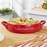Personalized Classic Red Round Baking Dish - 21773-O