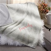 Faux Fur Personalized Throw Blanket - 21791