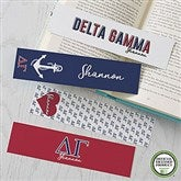 Delta Gamma Personalized Paper Bookmarks Set of 4 - 21820