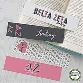 Delta Zeta Personalized Paper Bookmarks Set of 4 - 21821