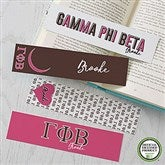 Gamma Phi Beta Personalized Paper Bookmarks Set of 4 - 21822