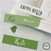Kappa Delta Personalized Paper Bookmarks Set of 4 - 21824