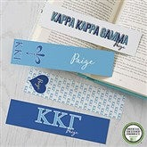 Kappa Kappa Gamma Personalized Paper Bookmarks Set of 4 - 21825