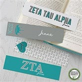 Zeta Tau Alpha Personalized Paper Bookmarks Set of 4 - 21827