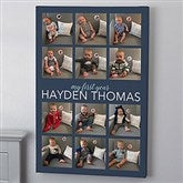 My First Year Personalized Canvas Print- 12