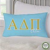 Alpha Delta Pi Personalized Lumbar Throw Pillow - 21850-LB