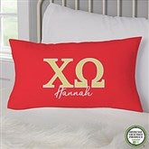 Chi Omega Personalized Lumbar Throw Pillow - 21851-LB