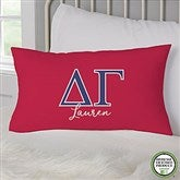 Delta Gamma Personalized Lumbar Throw Pillow - 21853-LB