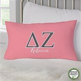 Delta Zeta Personalized Lumbar Throw Pillow - 21854-LB