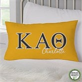 Kappa Alpha Theta Personalized Lumbar Throw Pillow - 21856-LB