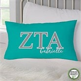 Zeta Tau Alpha Personalized Lumbar Throw Pillow - 21861-LB
