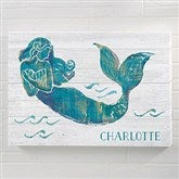 On the Waves Mermaid Personalized Canvas Print - 12