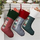 All Mine Personalized Burgundy Christmas Stockings - 21863-B