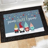 Gnome Family Personalized Doormat- 18x27 - 21864