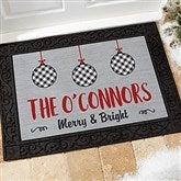 Farmhouse Christmas Personalized Doormat- 18x27 - 21866