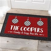 Farmhouse Christmas Personalized Doormat- 20x35 - 21866-M