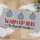 Farmhouse Christmas Personalized Oversized Doormat- 24x48 - 21866-O