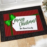 Gift Tag Greetings Personalized Doormat- 18x27 - 21867