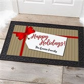 Gift Tag Greetings Personalized Doormat- 20x35 - 21867-M