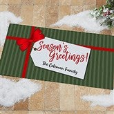 Gift Tag Greetings Personalized Oversized Doormat- 24x48 - 21867-O
