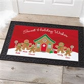 Gingerbread Family Personalized Doormat- 20x35 - 21868-M