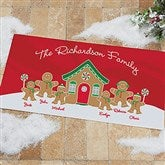 Gingerbread Family Personalized Oversized Doormat- 24x48 - 21868-O